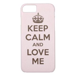 Houd kalm en houd van me iPhone 7 hoesje