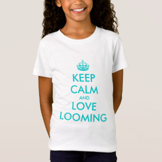Houd kalm en houd van opdoemend t-shirt voor kind