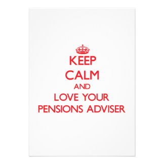 Houd Kalm en houd van uw Adviseur van Pensioenen