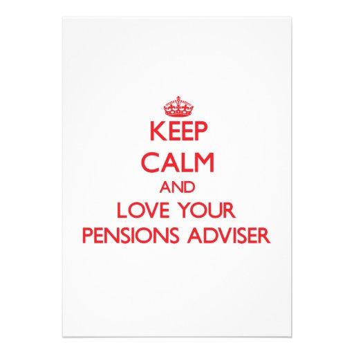 Houd Kalm en houd van uw Adviseur van Pensioenen Persoonlijke Uitnodiging