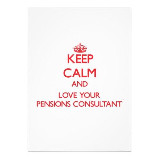 Houd Kalm en houd van uw Adviseur van Pensioenen Persoonlijke Uitnodigingen