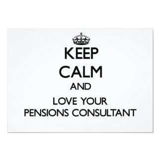 Houd Kalm en houd van uw Adviseur van Pensioenen Gepersonaliseerde Uitnodigingen