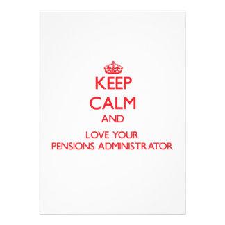 Houd Kalm en houd van uw Beheerder van Pensioenen