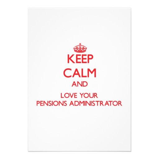 Houd Kalm en houd van uw Beheerder van Pensioenen Gepersonaliseerde Uitnodigingen