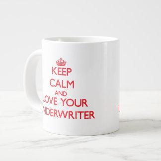 Houd Kalm en houd van uw Borg Grote Koffiekop