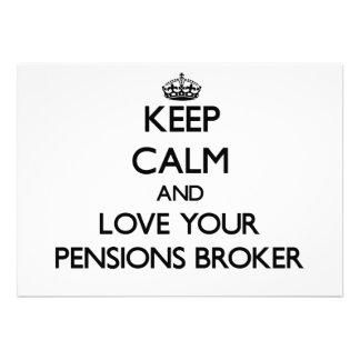 Houd Kalm en houd van uw Makelaar van Pensioenen