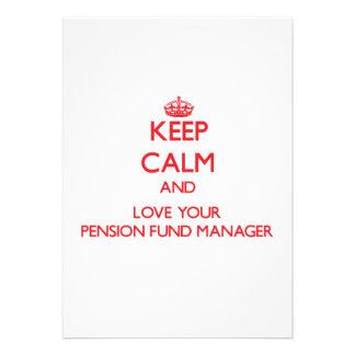 Houd Kalm en houd van uw Manager van het Fonds van