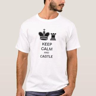 HOUD KALM EN KASTEEL - het Overhemd van het T Shirt