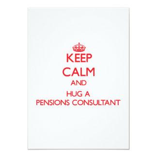 Houd Kalm en koester een Adviseur van Pensioenen 12,7x17,8 Uitnodiging Kaart