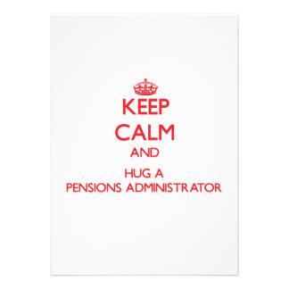 Houd Kalm en koester een Beheerder van Pensioenen Custom Uitnodigingen