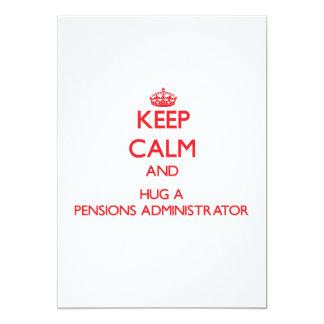 Houd Kalm en koester een Beheerder van Pensioenen 12,7x17,8 Uitnodiging Kaart