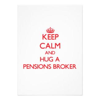 Houd Kalm en koester een Makelaar van Pensioenen Custom Uitnodging