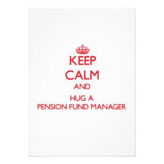 Houd Kalm en koester een Manager van het Fonds van Persoonlijke Aankondiging