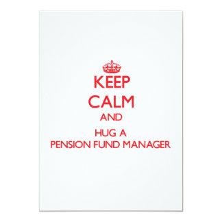 Houd Kalm en koester een Manager van het Fonds van 12,7x17,8 Uitnodiging Kaart