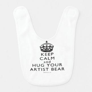 Houd Kalm en koester Uw Kunstenaar dragen Baby Slabbetje
