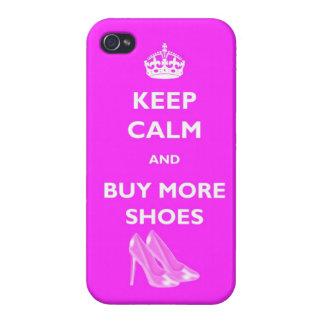 Houd Kalm en koop Meer Schoenen IPhone 4 Glanzend  iPhone 4 Case