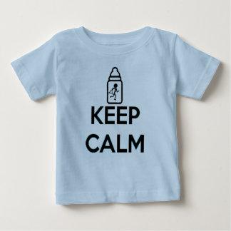 Houd Kalm en kruip - breng A samen Baby T Shirts