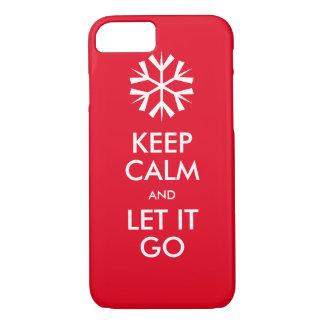 Houd kalm en laat het gaan iPhone 7 hoesje