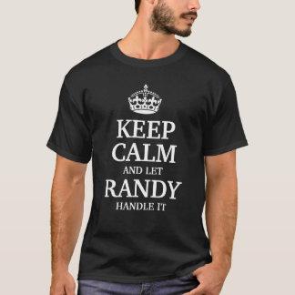 Houd kalm en laat Wellustig handvat het T Shirt