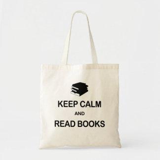 Houd Kalm en lees Boeken Draagtas