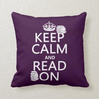 Houd Kalm en lees verder (in om het even welke Sierkussen