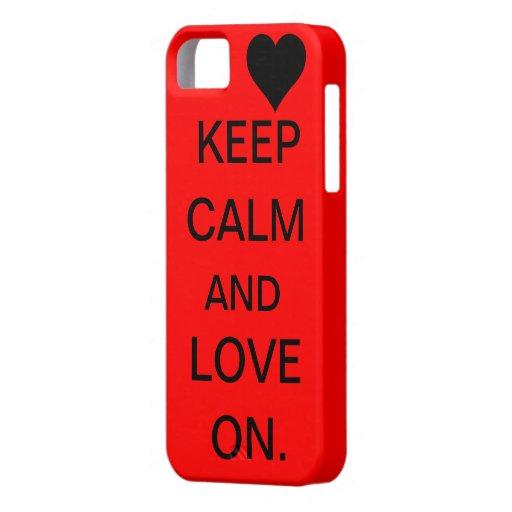 Houd Kalm en Liefde op Geval iPhone 5 Case
