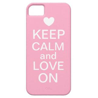Houd Kalm en Liefde op het Geval van de Telefoon iPhone 5 Hoesjes