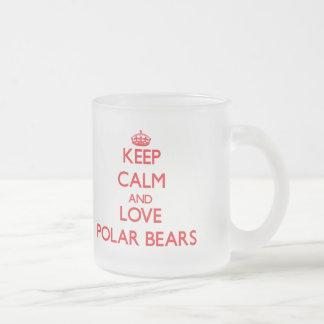 Houd kalm en liefde Polair Beer Matglas Koffiemok
