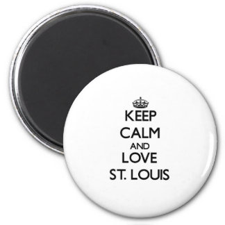 Houd Kalm en liefde St.Louis Magneet