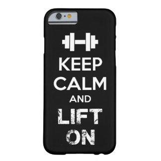 Houd Kalm en Lift - Motivatie Training Barely There iPhone 6 Hoesje