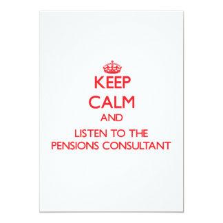 Houd Kalm en luister aan de Adviseur van 12,7x17,8 Uitnodiging Kaart