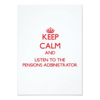 Houd Kalm en luister aan de Beheerder van Uitnodigingen