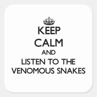 Houd kalm en luister aan de Gifslangen