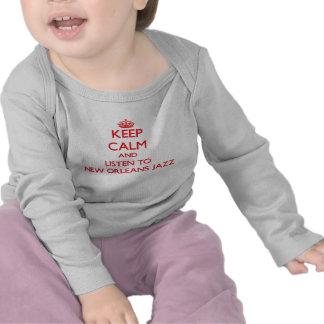 Houd kalm en luister aan de JAZZ van NEW ORLEANS Tshirt