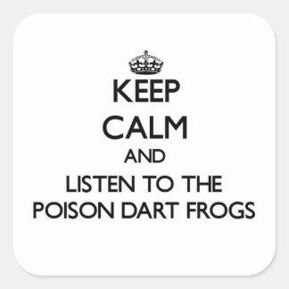 Houd kalm en luister aan de Kikkers van het Pijltj Vierkant Sticker