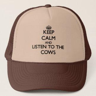 Houd kalm en luister aan de Koeien Trucker Pet