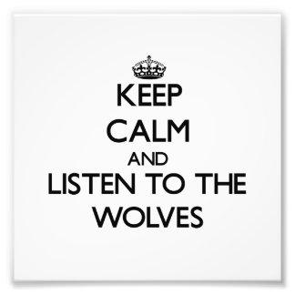 Houd kalm en luister aan de Wolven