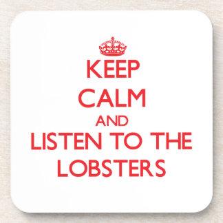 Houd kalm en luister aan de Zeekreeften Drankjes Onderzetter