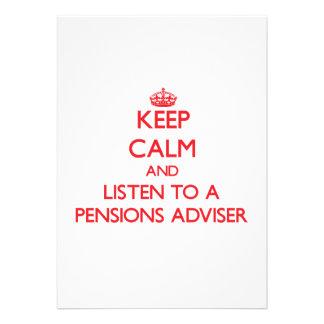 Houd Kalm en luister aan een Adviseur van Pensioen Gepersonaliseerde Uitnodiging