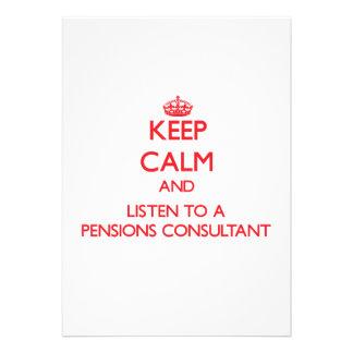 Houd Kalm en luister aan een Adviseur van Pensioen Uitnodiging