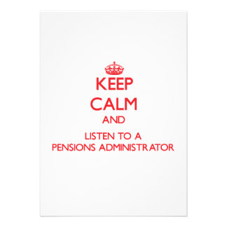 Houd Kalm en luister aan een Beheerder van Pensioe Gepersonaliseerde Uitnodiging