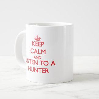 Houd Kalm en luister aan een Jager Grote Koffiekop