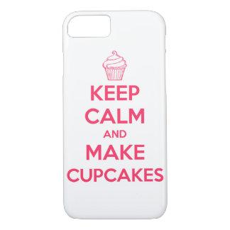 Houd kalm en maak cupcakes iPhone 7 hoesje