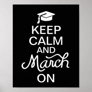Houd Kalm en Maart op het Poster van Afstuderen