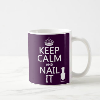 Houd Kalm en nagel het (Nagellak) Koffiemok