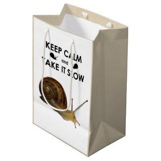 Houd Kalm en neem het de Langzame Zak van de Gift Medium Cadeauzakje