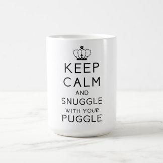 Houd Kalm en nestel me met Uw Mok Puggle