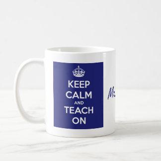 Houd Kalm en onderwijs op Blauw Koffiemok