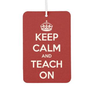 Houd Kalm en onderwijs op Rood en Wit Luchtverfrisser