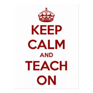 Houd Kalm en onderwijs op Rood/Wit Briefkaart